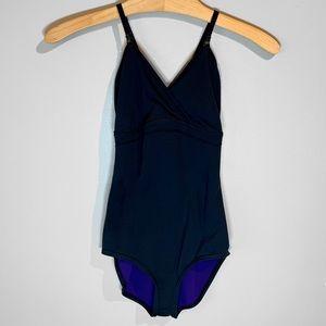 Lululemon Bodysuit Reversible Black Purple Sz 2